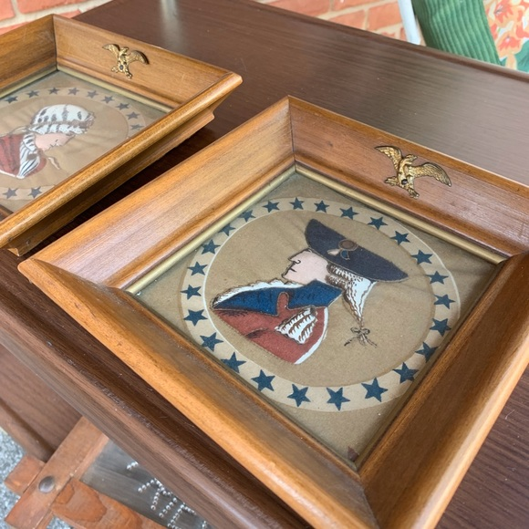 Other - 2 VINTAGE QUILTED FABRIC ART
